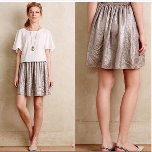 Anthropologie Corey Lynn Calter metallic skirt